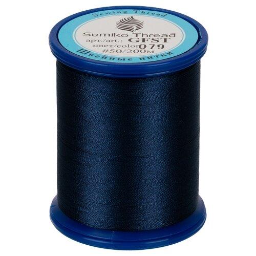 Sumiko Thread Швейная нить (GFST), 079 джинсовый 200 м