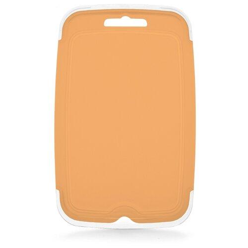 цена на Разделочная доска ПОЛИМЕРБЫТ Экстра 807 22.7х14.5 см светло-оранжевый
