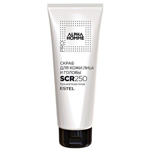 Alpha Homme Скраб для кожи лица и головы SCR250 250 мл