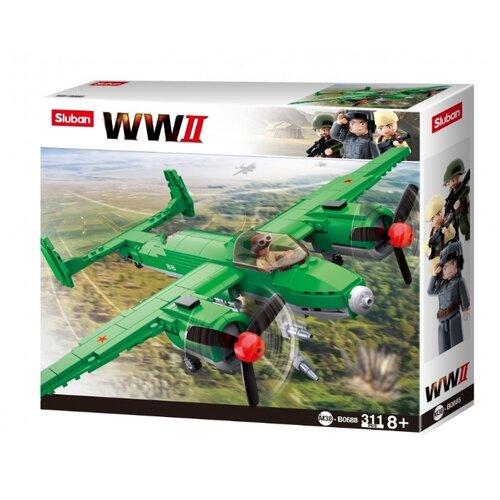 Купить Конструктор SLUBAN WW2 M38-B0688 Самолет ТУ-2, Конструкторы