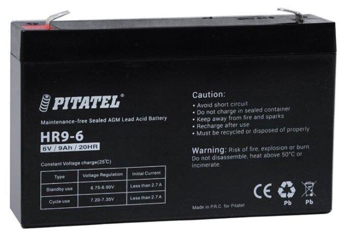 Аккумулятор Pitatel HR9-6, 6V 9Ah