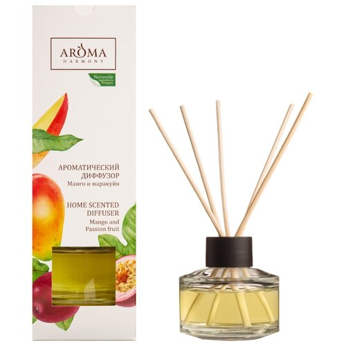 Aroma Harmony Диффузор Манго и маракуйя, 50 мл 1 шт. wax lyrical диффузор манго и