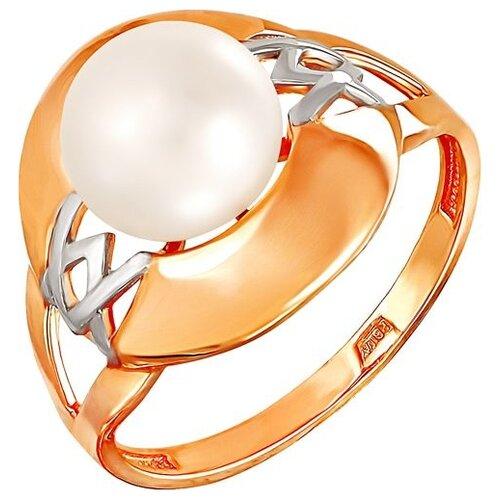 Фото - ПримаЭксклюзив Кольцо с 1 жемчугом из красного золота 190-1-487Р, размер 17 примаэксклюзив кольцо с 1 жемчугом из красного золота 190 1 921р размер 17