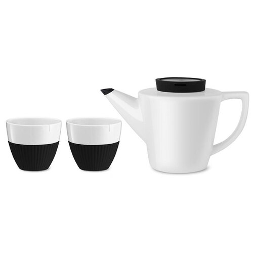 Чайный сервиз VIVA Scandinavia Infusion, 2 персоны белый/черный