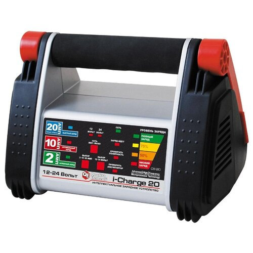 Зарядное устройство Quattro Elementi i-Charge 20 (771-169) черный/серый/красный зарядное устройство для автомобильных аккумуляторов quattro elementi energia 5000 li 641 107