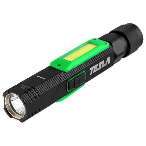 Ручной фонарь Tesla FLL черно-зеленый фонарь автомобильный tesla lk9 250a чёрный зеленый