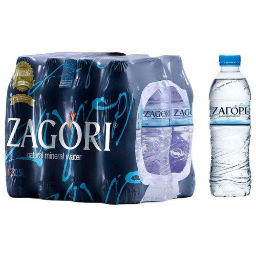 Минеральная вода Zagori негазированная, ПЭТ, 12 шт. по 0.5 л