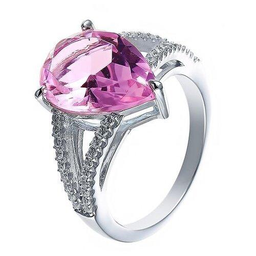 JV Кольцо с стеклом и фианитами из серебра SY-356155-R-KO-US-001-WG, размер 18 jv кольцо с стеклом и фианитами из серебра se2617 r ko us 001 blk размер 18