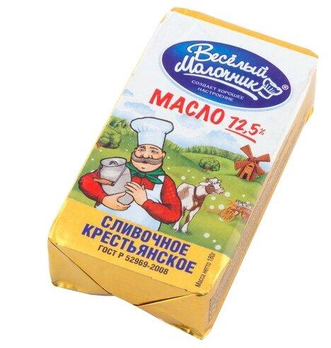 Веселый Молочник Масло сливочное Крестьянское 72.5%, 180 г