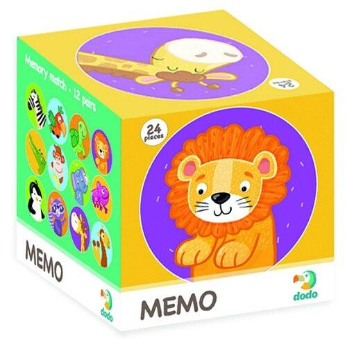 Купить Настольная игра Dodo Мемо Дикие животные, Настольные игры
