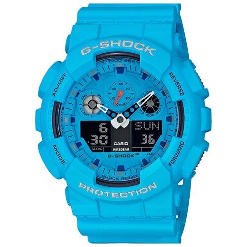 Наручные часы CASIO GA-100RS-2A casio часы casio ga 110nc 2a коллекция g shock