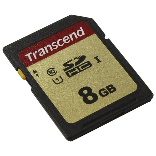 Фото - Карта памяти Transcend 8GB UHS-I U1 SD card на основе памяти типа MLC карта памяти transcend 16gb uhs i u1 sd card