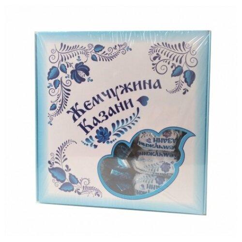 Набор конфет Биектау Жемчужина Казани с кокосовой стружкой 300 г голубой ирис настоящий с кокосовой стружкой 40г