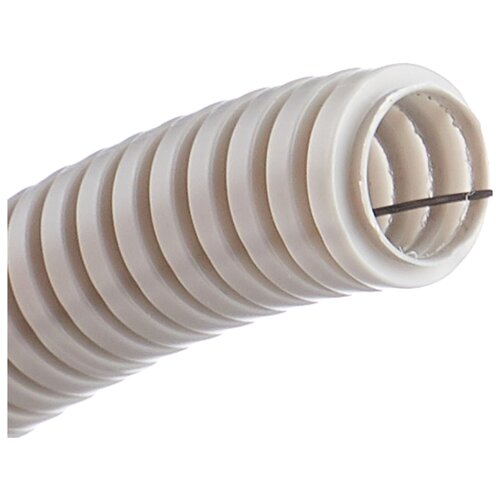 Труба гофрированная ПВХ с зондом IEK 20 мм x 100 м