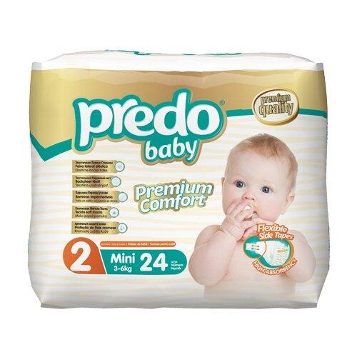 Predo подгузники 2 (3-6 кг) 24 шт. подгузники для малышей libero newborn 2 3 6 кг 94 шт