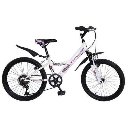Подростковый горный (MTB) велосипед Top Gear Mystic (BH20202) белый (требует финальной сборки) top gear велосипед 24 mystic 110 18 скоростей белый вн24058