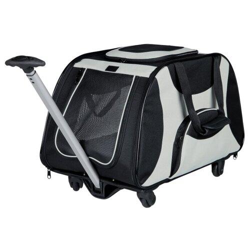 Тележка-переноска для собак Triol 1004 68х34х44 см черный/серый сумка переноска для собак triol лаура 46х26 5х28 см голубой серый