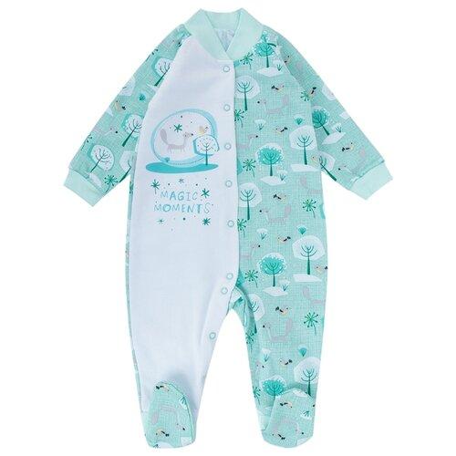 Комбинезон Babyglory размер 80, мятный джемпер для новорожденных babyglory superstar цвет синий ss001 09 размер 80