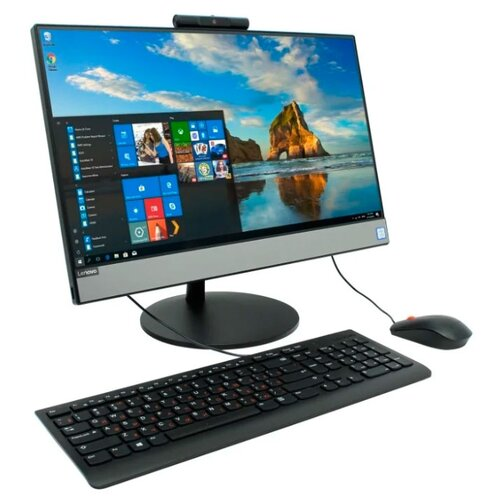 Моноблок Lenovo AIO V530-22ICB 10US00MFRU Intel Core i3-9100T/8 ГБ/SSD/Intel UHD Graphics 630/21.5/1920x1080/DVD-RW/Windows 10 Professional 64 моноблок hp eliteone 800 g5 intel core i7 9700 3000 mhz 23 8 1920x1080 8gb 512gb ssd dvd rw intel uhd graphics 630 wi fi bluetooth windows 10 pro