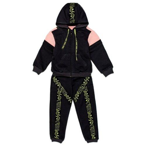 Спортивный костюм ЁМАЁ размер 104, графит/фламинго