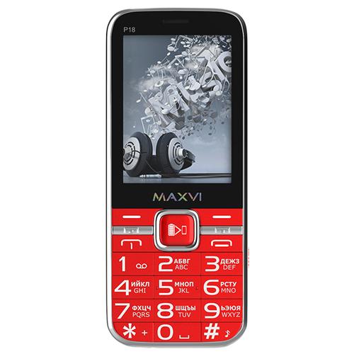 Фото - Телефон MAXVI P18 красный телефон maxvi x650 красный