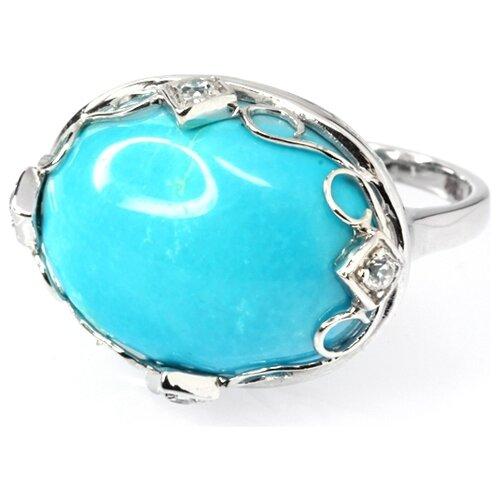цена на JV Кольцо с бирюзой и фианитами из серебра R34685L-2-KO-TQ-001-WG, размер 16.5