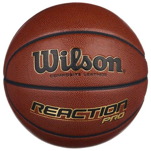 цена на Баскетбольный мяч Wilson Reaction PRO, р. 7 коричневый