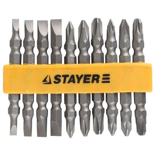 Фото - Набор бит STAYER 2605-H10_z01, 10 предм., серебристый набор бит stayer master 10шт 2605 h10 z01