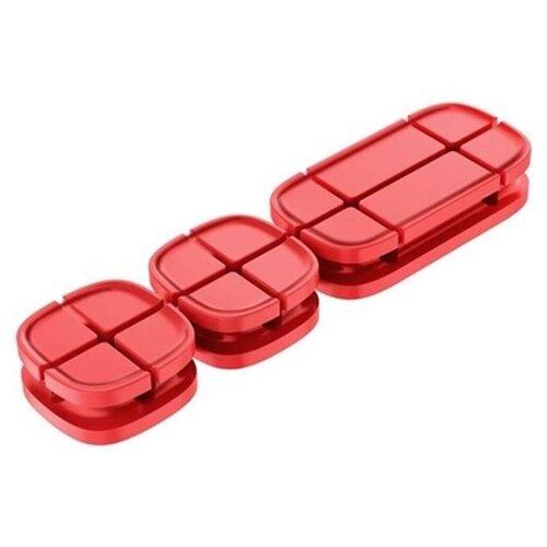 Клипса Baseus Cross Peas Cable Clip красный