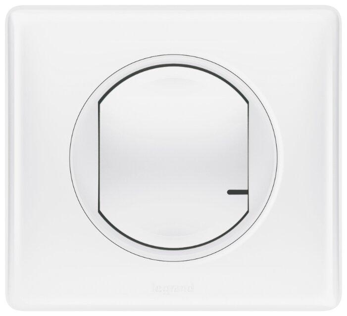 Выключатель с электронной коммутацией Legrand 067723 Celiane, белый фото 1