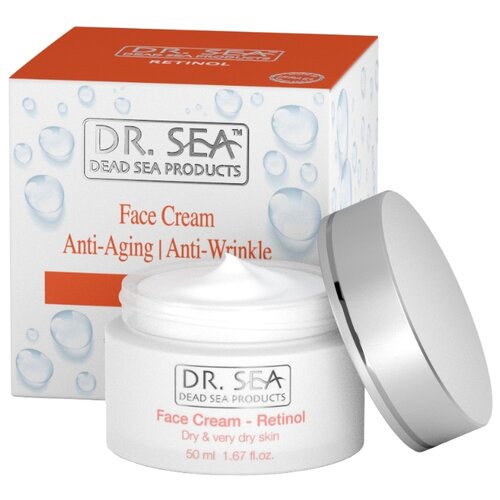 Крем Dr. Sea Retinol anti-aging anti-wrinkle face cream антивозрастной восстанавливающий с коллагеном и ретинолом для сухой и обезвоженной кожи лица, 50 мл
