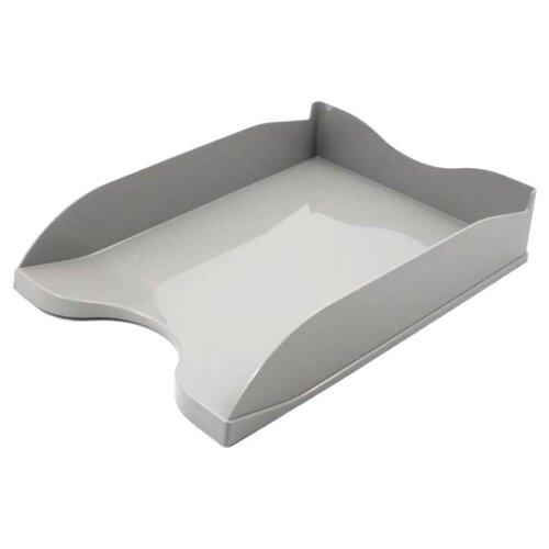 Купить Лоток горизонтальный для бумаги СТАММ Люкс серый, Лотки для бумаги