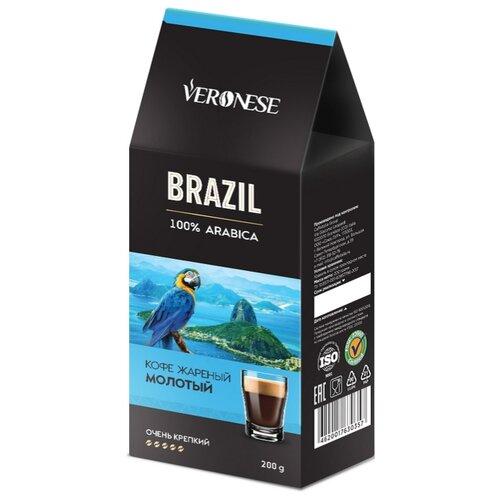 Кофе молотый Veronese Brazil, 200 г статуэтка слонёнок veronese