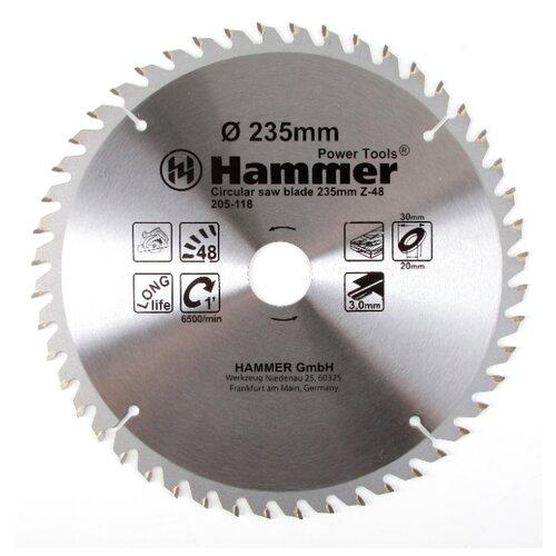 Пильный диск Hammer Flex 205-118 CSB WD 235х30 мм пильный диск hammer flex 205 106 csb wd 165х30 мм