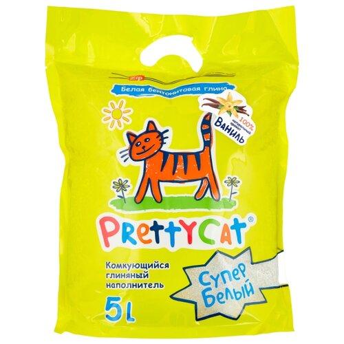 Комкующийся наполнитель PrettyCat Супер Белый с ароматом ванили 5 л/4.2 кг pretty cat prettycat супер белый с ароматом ванили 5 л