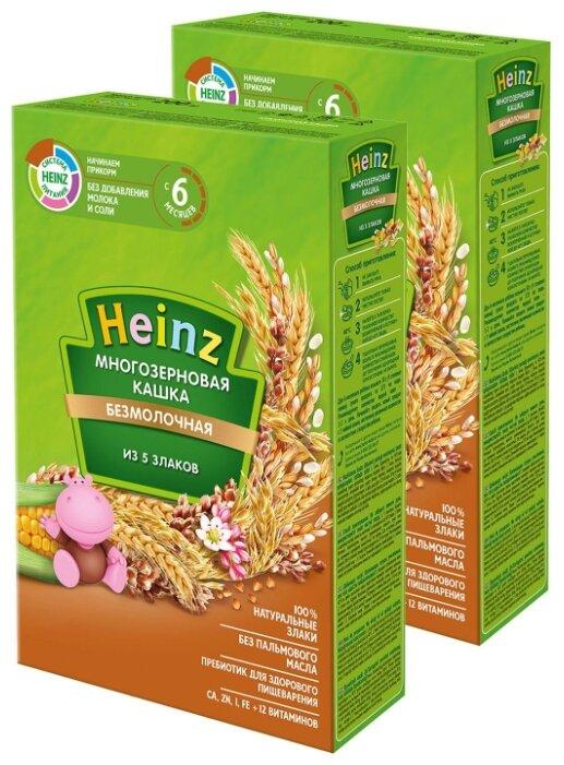 Каша Heinz безмолочная 5 злаков (c 6 месяцев) 200 г, 2 шт.