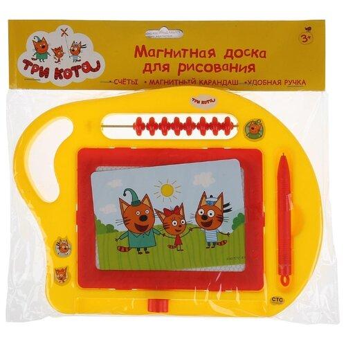 Купить Доска для рисования детская Играем вместе Три кота (B1638242-3CATS) желтый, Доски и мольберты
