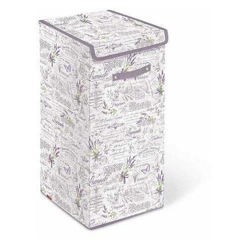 Valiant Корзина для белья с крышкой Lavande LV-BOX-LXL 60х35х35 см белый/фиолетовый valiant корзина для белья с крышкой 35 35 50 см expedition valiant