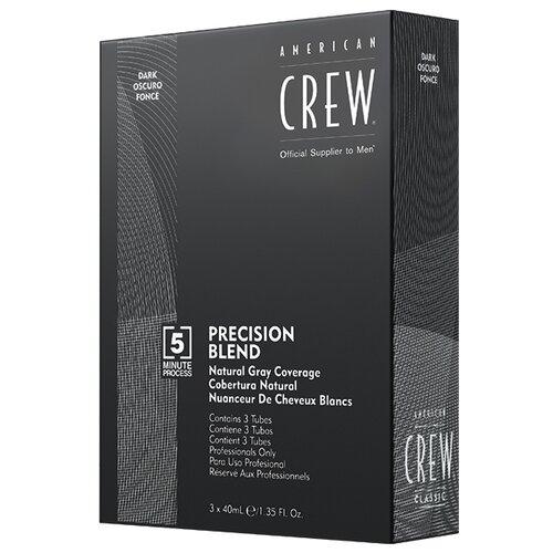 Купить American Crew Precision Blend краска-камуфляж для седых волос, 2/3 темный натуральный