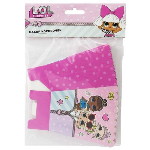 Набор подарочных коробок ND Play L.O.L. 9х6х10 cм, 6 шт розовый набор подарочных коробок 24 24 18 см 3 шт