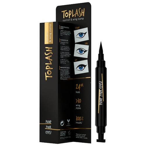Toplash Подводка со штампом для стрелок Eyeliner and wing stamp, оттенок черный  - Купить