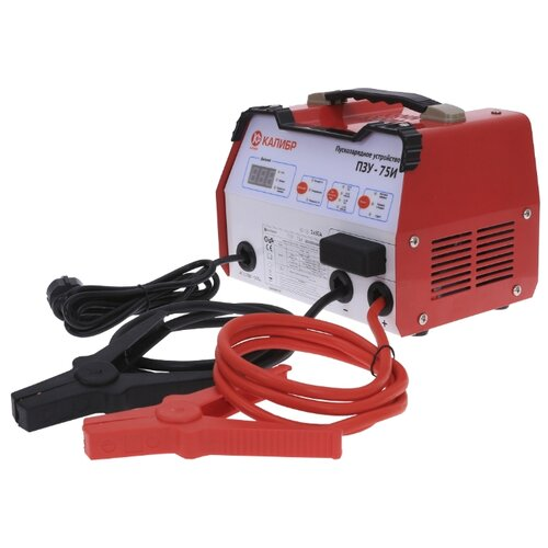 Пуско-зарядное устройство КАЛИБР ПЗУ-75И красный автомобильное зарядное устройство technoking зу 75и для аккумуляторов 6 12 в 10 а 46430 красный