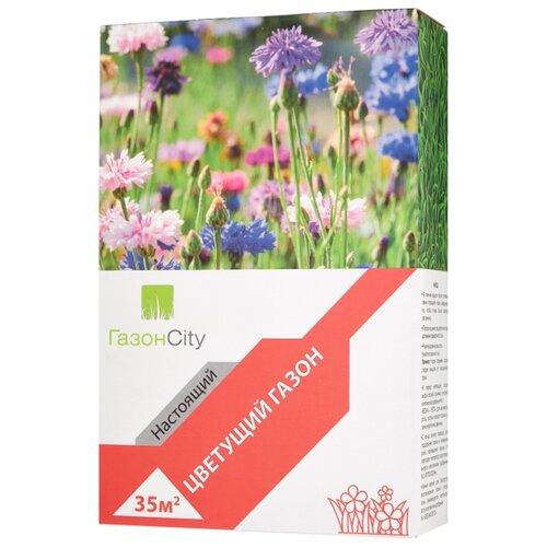 Смесь семян для газона ГазонCity Настоящий Цветущий газон, 1 кг смесь семян газонcity настоящий солнечный газон 1 кг