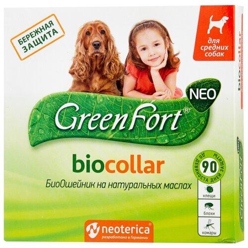 Ошейник от блох и клещей GreenFort Neo BioCollar для собак, 65 см