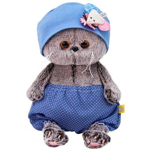 Купить Мягкая игрушка Basik&Co Кот Басик baby в шапочке с мышкой 20 см, Мягкие игрушки