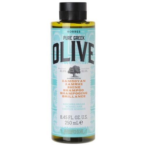 KORRES шампунь Pure Greek Olive придающий сияние для нормальных волос 250 мл korres korres pure greek olive showergel honey гель для душа с медом 250 мл