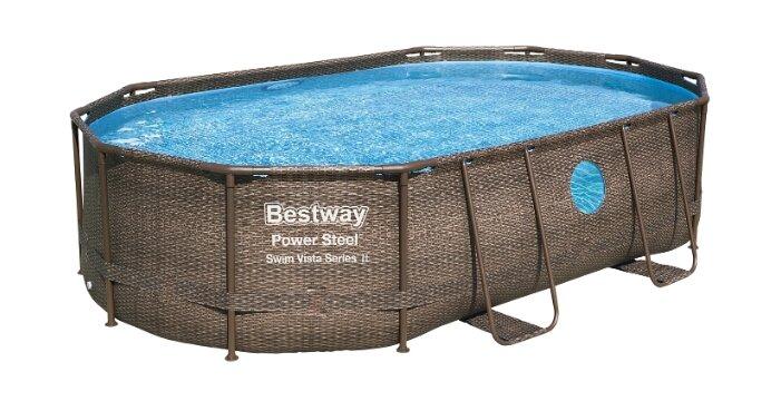 Бассейн Bestway Power Steel Swim Vista Series II в комплекте 56946 — купить по выгодной цене на Яндекс.Маркете
