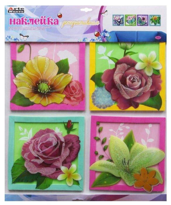 Комплект наклеек Arte Nuevo Цветы, объемные