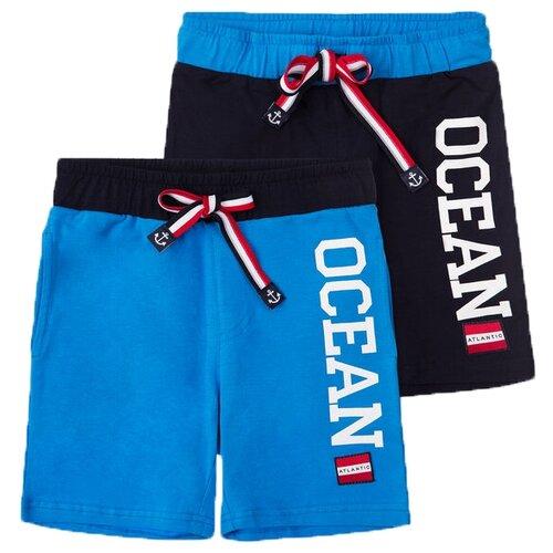 Шорты playToday 2 шт. размер 98, темно-синий/голубой шорты playtoday размер 98 серый