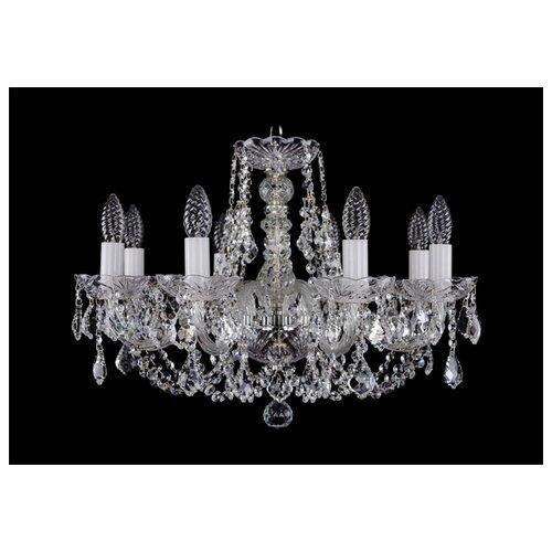 Люстра Bohemia Ivele Crystal 1406 1406/8/195/Ni/Leafs, E14, 320 Вт люстра bohemia ivele crystal 1406 1406 8 160 ni leafs e14 320 вт